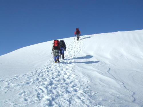 070505_長次郎谷左股から本峰への登り