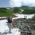雷鳥沢からの登り