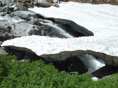 剱沢の雪渓