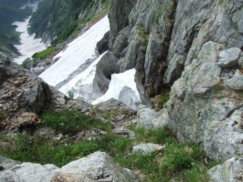 左稜線の取り付き付近